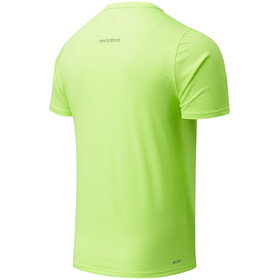 New Balance Printed Accelerate SS Shirt Men bleached lime glo